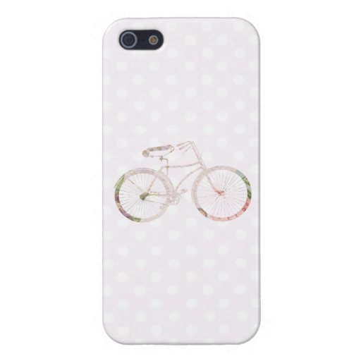 Girly Floral Bicycle iPhone 5 Cases