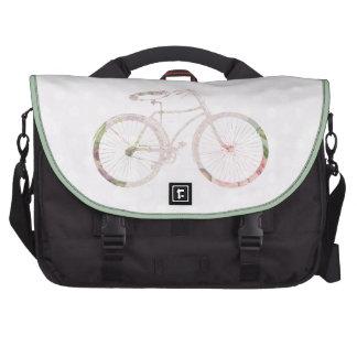 Girly Floral Bicycle Laptop Messenger Bag