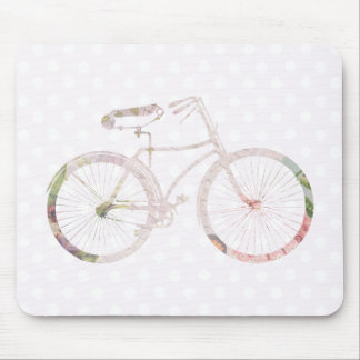 Girly Floral Bicycle Mouse Pad