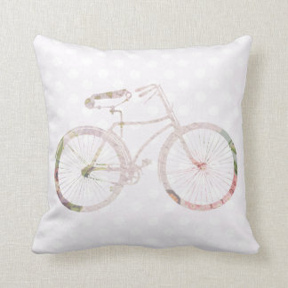 Girly Floral Bicycle Pillow