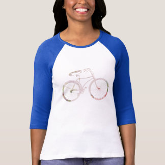 Girly Floral Bicycle T-Shirt