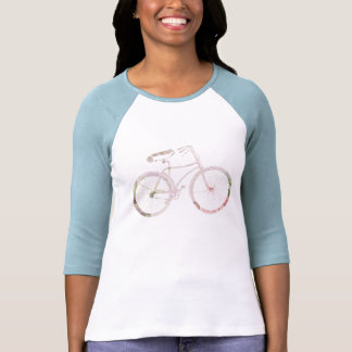 Girly Floral Bicycle Tee Shirts