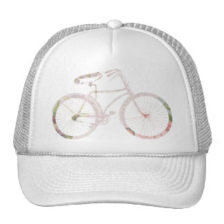 Girly Floral Bicycle Trucker Hat