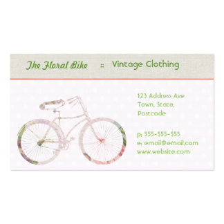 Girly Floral Bike Business Cards