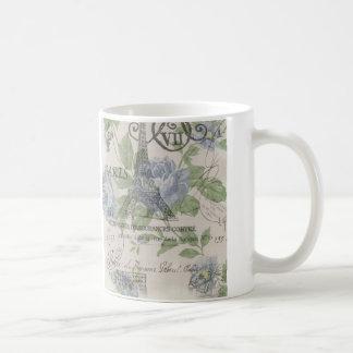 Girly floral elegant vintage Paris fashion Coffee Mug