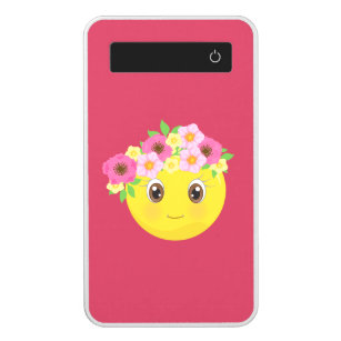 Girly Floral Emoji Power Bank