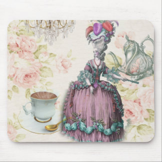 Girly floral Marie Antoinette Paris tea party Mouse Pad