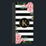 "Girly Floral Monogram Black White Striped iPhone 8/7 Plus Wallet Case<br><div class=""desc"">Decorate your iPhone to be as cool with this &quot;Girly Floral Monogram Black White Striped&quot; Unique Wallet Cover and make it more than just protective casing. If you need further customization, please click the &quot;Customize it&quot; button and use our advanced design tool to resize, rotate, change color, add text and...</div>"