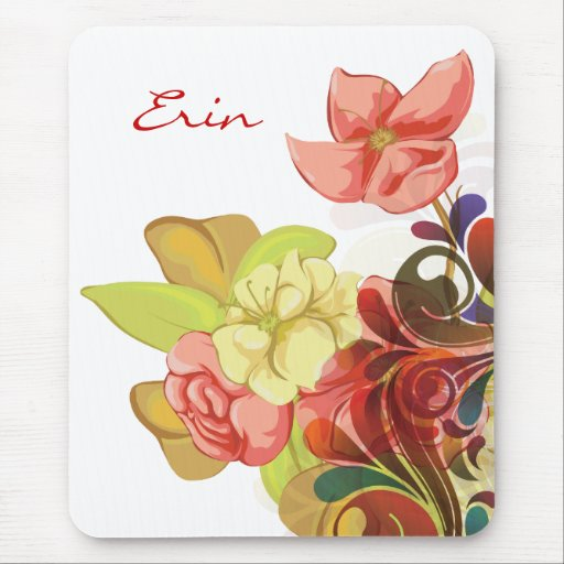 Girly Floral Mousepad