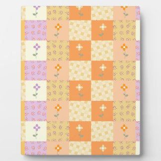 Girly Floral Patchwork Plaque