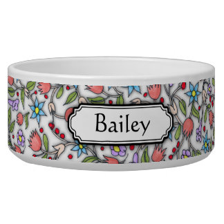 Girly Floral Pattern Bowl