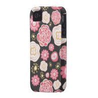 Girly Floral Pattern Case Mate Iphone Barely There iPhone 4/4S Covers
