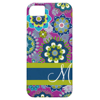 Girly Floral Pattern with Monogram iPhone SE/5/5s Case
