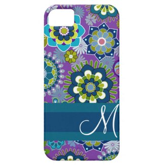 Girly Floral Pattern with nogram iPhone 5 Cover