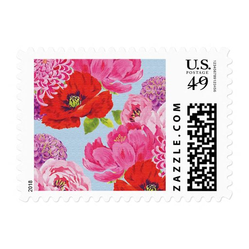 Girly Floral Postage Stamp