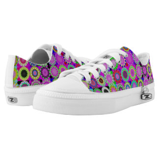 Girly Floral purple flower power shoes Printed Shoes