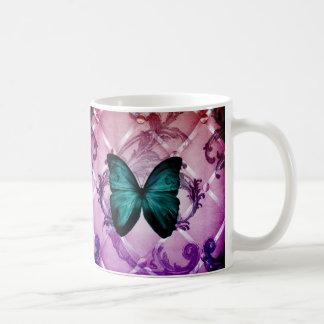 Girly floral retro fashion vintage fashion mugs