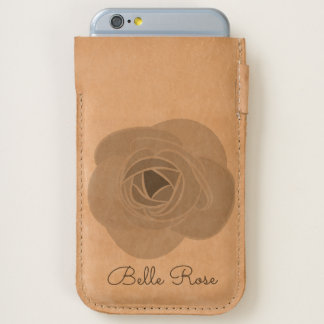 Girly Floral Rose Flower iPhone Cell Phone Pouch