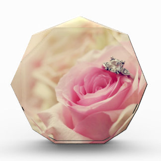 Girly floral roses pink white dreamy angelic soft award