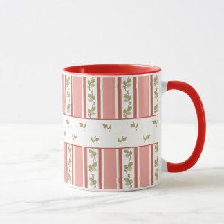 Girly Floral Stripes Mug