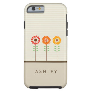 Girly Floral Sun Flowers Pattern - Nature Stylish Tough iPhone 6 Case