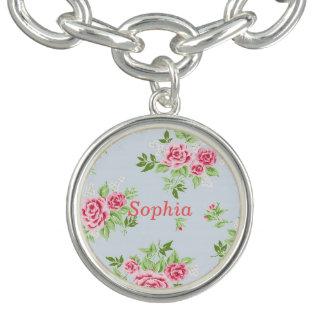Girly flower name bracelet bracelets