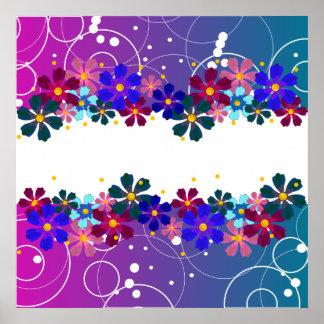 Girly Flower Poster