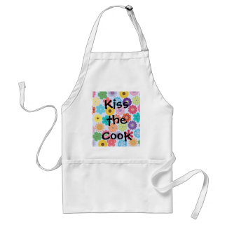 Girly Flower Power Colorful Floral Pattern Adult Apron