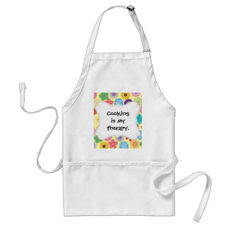 Girly Flower Power Colorful Floral Pattern Gifts Adult Apron