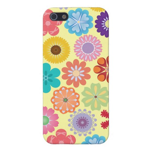Girly Flower Power Colorful Floral Pattern Gifts iPhone 5 Case