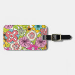 girly flowers pattern vol 1c tags for bags