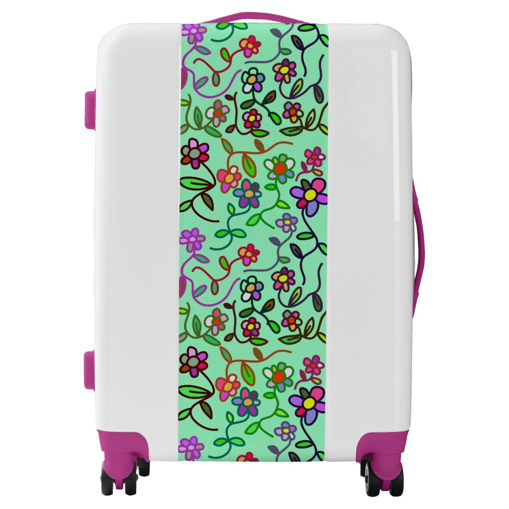 flower suitcases