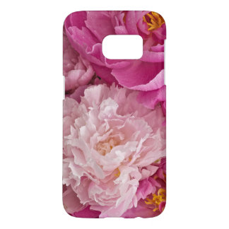 Girly Flowery Pink Peony Samsung Galaxy S7 Case