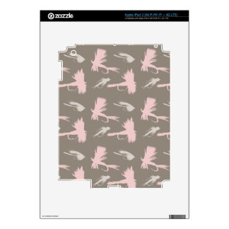Girly Fly Fishing Lures Pattern iPad 3 Decals