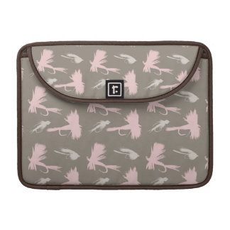 Girly Fly Fishing Lures Pattern Sleeve For MacBooks