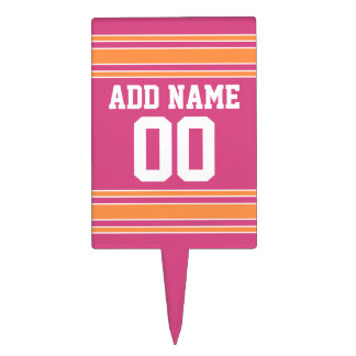 Girly Football Jersey with Custom Name Number Cake Topper