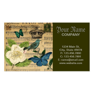 girly french botanical bird floral paris fashion business card templates