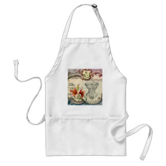 Girly french country lily Parisian vintage corset Adult Apron