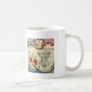 Girly french country lily Parisian vintage corset Coffee Mug