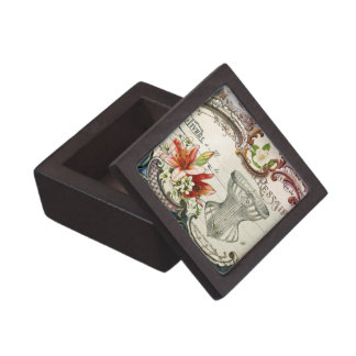 Girly french country lily Parisian vintage corset Gift Box