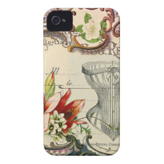 Girly french country lily Parisian vintage corset iPhone 4 Case-Mate Case