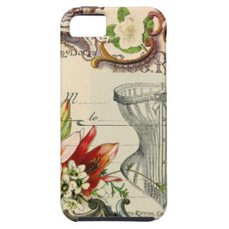 Girly french country lily Parisian vintage corset iPhone SE/5/5s Case