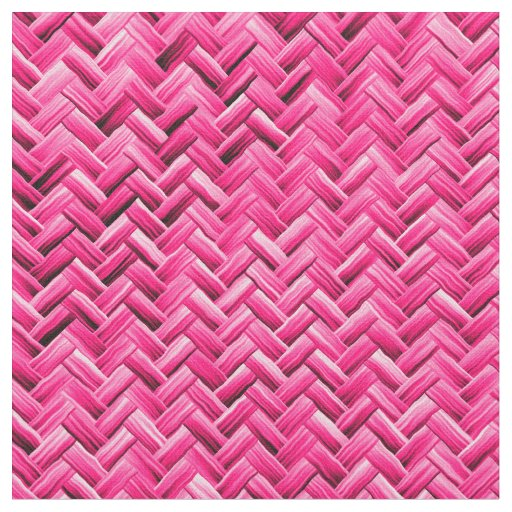 How To Weave A Basket From Fabric : Girly fuchsia basket weave geometric pattern fabric zazzle