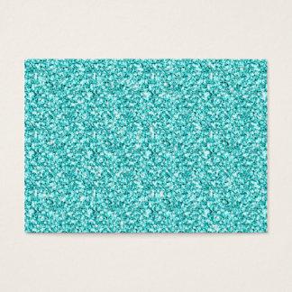 Girly, Fun Aqua Blue Glitter Printed Business Card