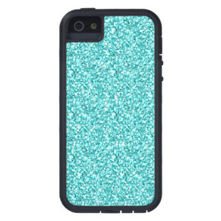 Girly, Fun Aqua Blue Glitter Printed Case For iPhone SE/5/5s