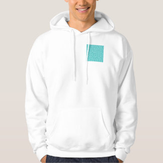 Girly, Fun Aqua Blue Glitter Printed Hoodie