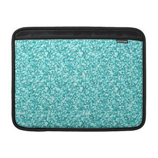 Girly, Fun Aqua Blue Glitter Printed MacBook Air Sleeve