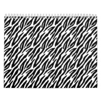 Girly Fun Black Zebra Stripes Pattern Calendar