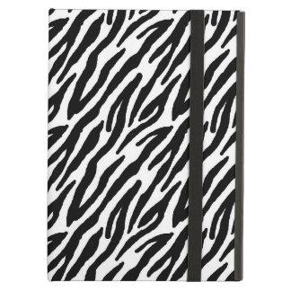 Girly Fun Black Zebra Stripes Pattern iPad Case