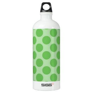 Girly Fun Cute Green Polka Dots Pattern on Green SIGG Traveler 1.0L Water Bottle